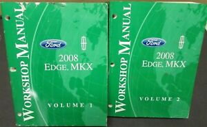 2008 Ford Edge & Lincoln MKX Service Shop Repair Manuals ...