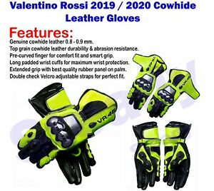 Valentino-Rossi-VR46-Motorbike-Racing-Leather-Protective-Gloves-Racing-Gloves