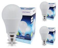 3 Pack 10w GLS LED Cool White Light Bulb B22 Bayonet 10w = 100w 6400K A60