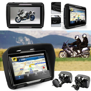 GPS-Bluetooth-Navigationsgeraet-Reise-Motorrad-Bike-Lkw-Bus-Auto-4-3-Zoll-TFT-8GB