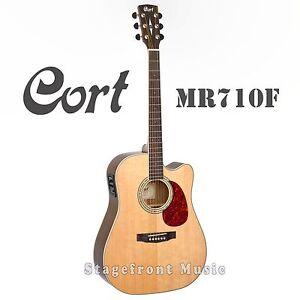 cort mr710f solid top acoustic electric guitar satin finish brand new ebay. Black Bedroom Furniture Sets. Home Design Ideas