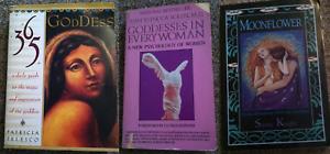 Lot of 3 Goddess Spirituality Mythology Books Womens