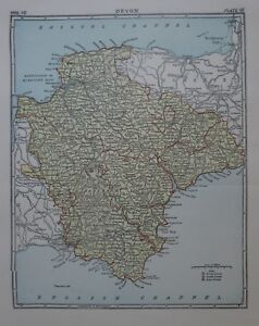 Map Of England Plymouth.Details About Original 1878 County Map Devon England Plymouth Exeter Dartmoor Totness Torquay