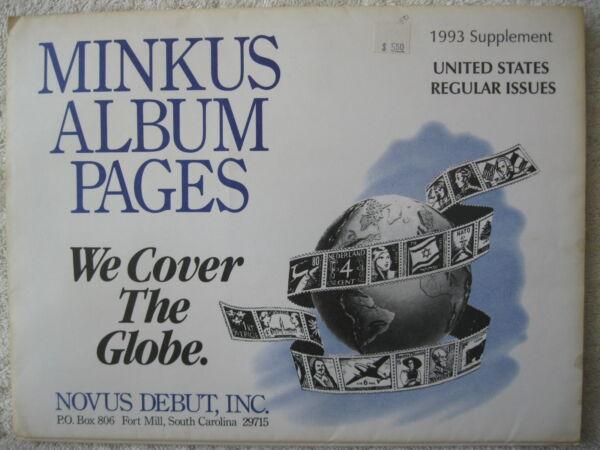 1993 Minkus Album Timbres Supplément États-unis Régulière Issues à Distribuer Partout Dans Le Monde