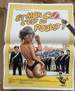 affiche-poster-cinema-erotique-Comedie-ET-MON-CUL-C-EST-DU-POULET-40x60-Neuve