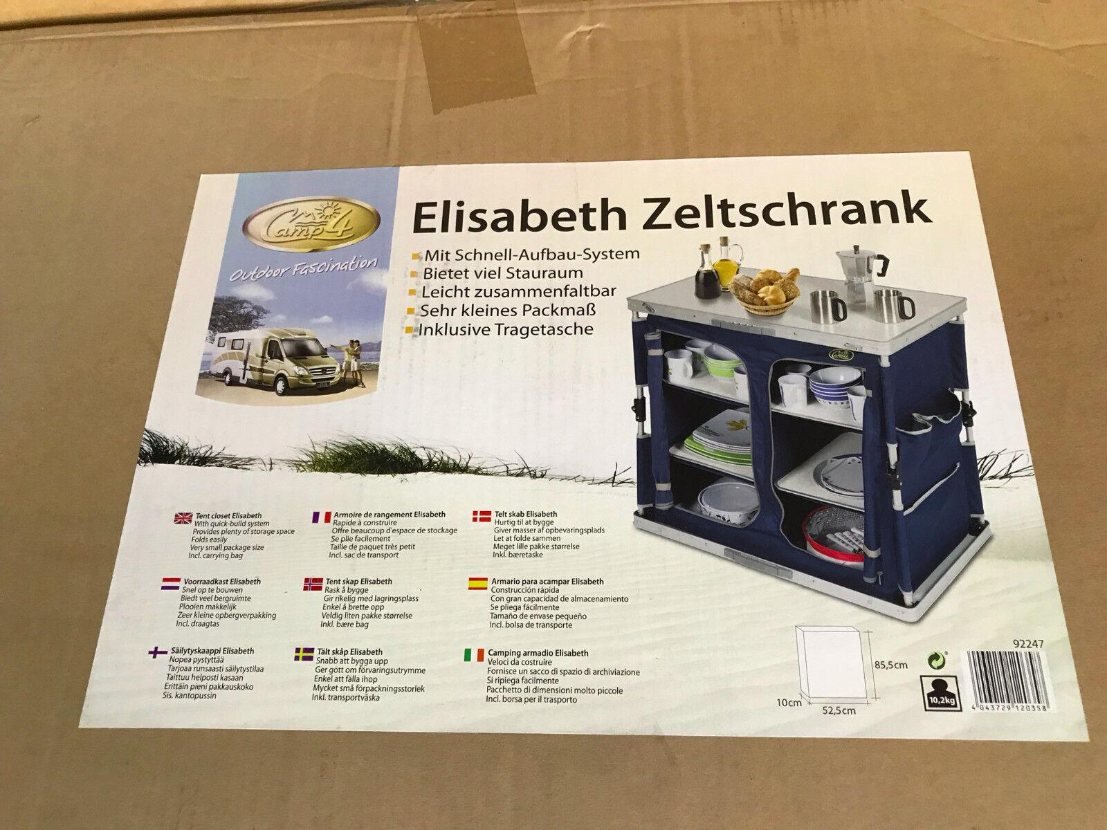 Elisabeth Zeltschrank Campingschrank Vorratsschrank 85,5x10x52,5cm