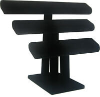 Bracelet Display- T Bar, Triple Bar- Black on sale