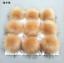 12cm 1Pc Fashion Women Raccoon Fur Pompon Keychain With Button Soft Fox Fur Ball
