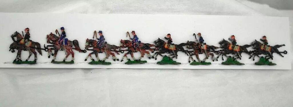 Set of 8 Heinrichsen Franco-Prussian War Two-Horse French Field Artillery (1900)