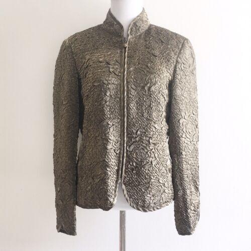 Victor Costa Evening Jacket Size 8 Gold Bronze Met