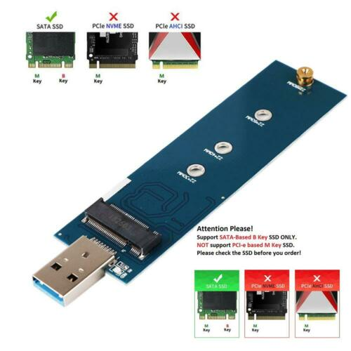 M.2 to USB Adapter USB to 2280 M2 SSD Drive NGFF Converter SSD Reader Card US