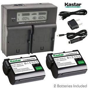 Details about Kastar EL15 Battery&LCD Dual Smart Fast Charger for Nikon 1  V1, D600, D610, D750
