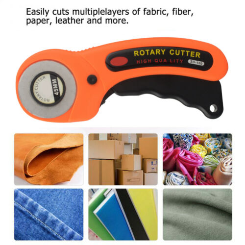 Rotary Cutter with 45mm Blades Sewing Quilters Fabric Cutting Leather Paper Tool