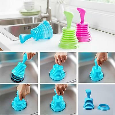 Kitchen Bath Sink Plunger Blocked Toilet Drain Unblock Sinks Pipe Cleaner Hot #M
