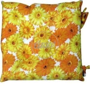 Dettagli su Cuscino sedia cucina coprisedia imbottito cm.45x45 con laccetti fantasia fiori