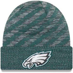 f6bd5385076 Philadelphia Eagles Era Knit Hat on Field 2018 TD Sideline Beanie ...