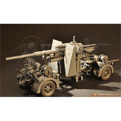 Merit German Flak 36 88mm Anti Aircraft / Anti-Tank  Gun 1:18 Scale Model Kit