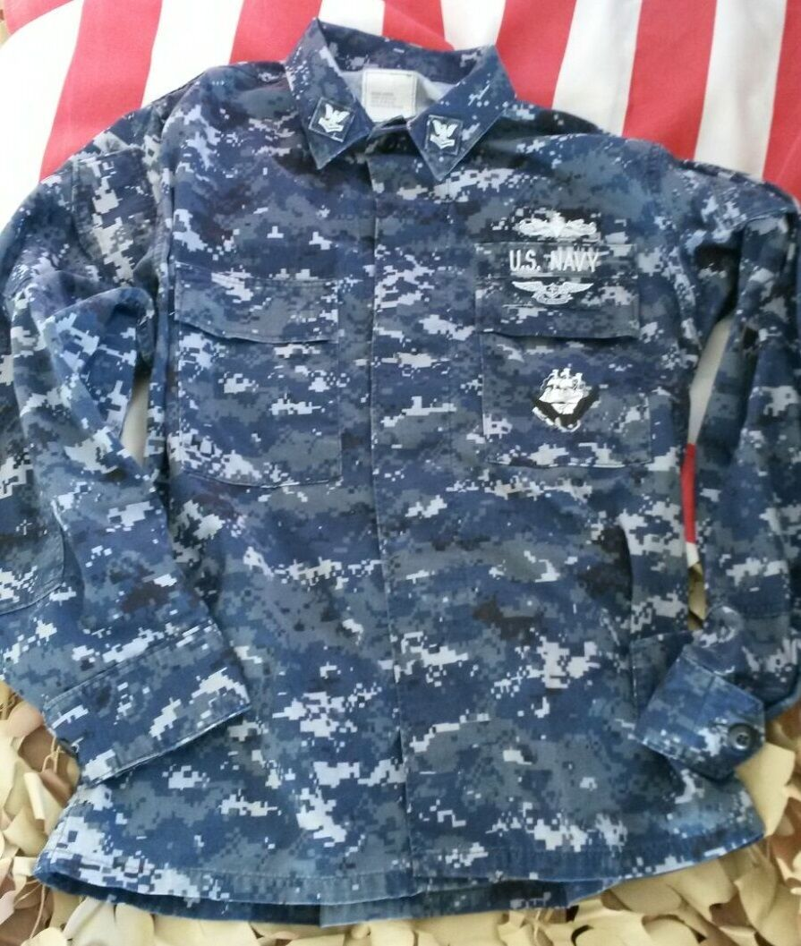 US NAVY USN Army AOR Nwu Digital pattern Giubbotto lavoroing Giacca ll gree lungo