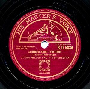 GLENN MILLER on 1944 HMV BD 5834 - Slumber Song / Moonlight Cocktail