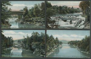 Olive-Ulster-Co-NY-Four-1908-10-Postcards-OLIVE-BRIDGE-BRODHEAD-BISHOPS-FALLS