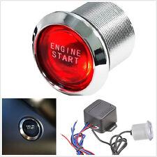 Motor de coche Universal Inicio Botón Interruptor SPST 12v 50A LED rojo en pos CY02