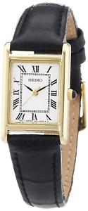 Seiko-Mujer-Analogico-reloj-de-cuarzo-con-Correa-De-Cuero-SXGN56P1