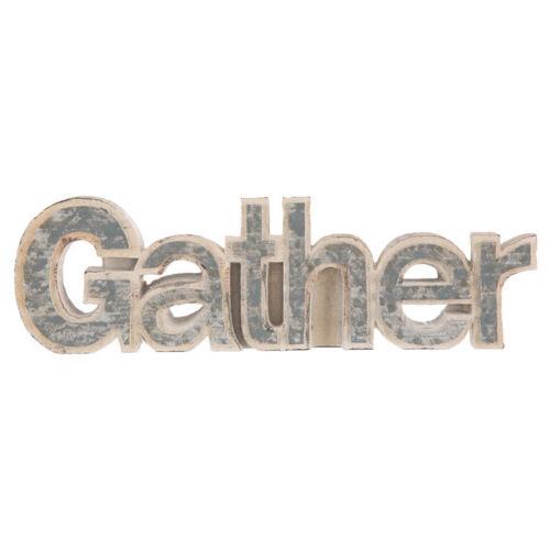 Gather Corrugated Decor Vintage Wood /& Galvanized Look