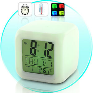 Glowing-LED-with-7-Color-Changing-Digital-Alarm-Clock-Thermometer-Calendar