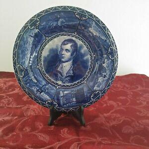 Robert-Burn-Vintage-Historical-Blue-Sampson-Hancock-amp-Sons-Collector-Plate