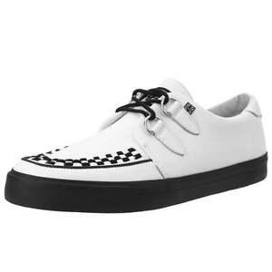 Image is loading T-U-K-A9179-New-Men-Shoes-Skull-Print-White-