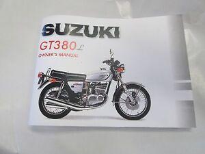 Suzuki GT380 owners manual 1974 GT380L | eBay
