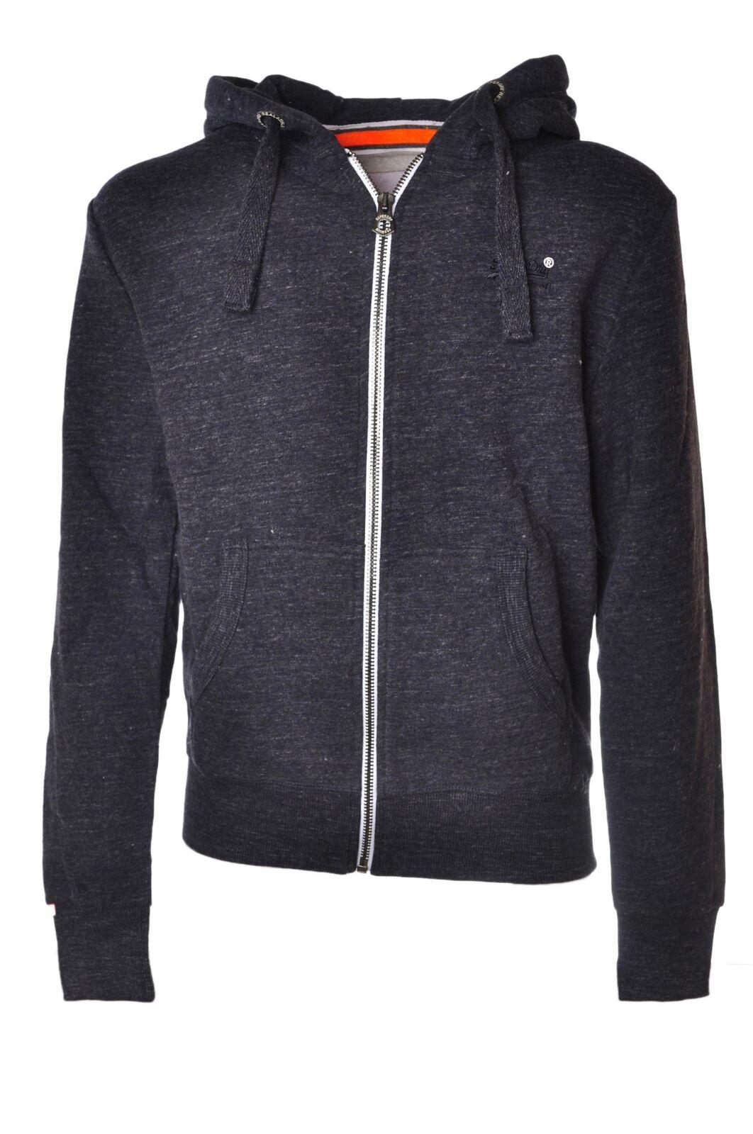 Superdry  -  Sweatshirts - Male - Blau - 4277726A184036