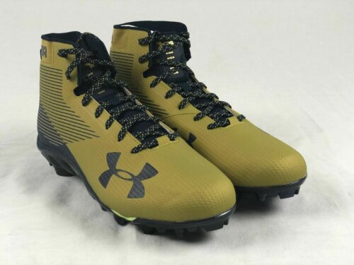 Men/'s Multiple Sizes Navy//Gold Cleats - Used Under Armour Spine High