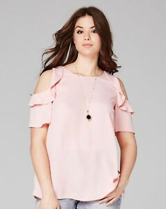 Simply-Be-Pink-Ruffle-Cold-Shoulder-Blouse-10-12-30