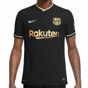 Nike Fc Barcelona Jersey 2021 Vapor Match Authentic Away Messi Football Black Ebay