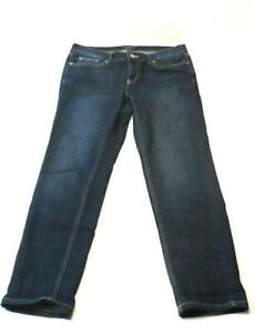 Banana-Republic-Womens-Jeans-Petite-Size-26-2-Girlfriend-Stretch-Dark-Wash-Denim