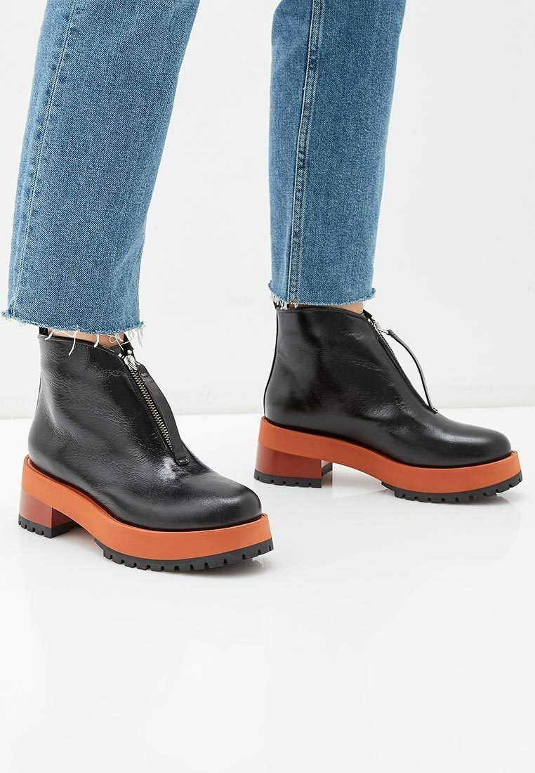 NW MARNI ankle boots black  TCMS000906  zip front boots platform