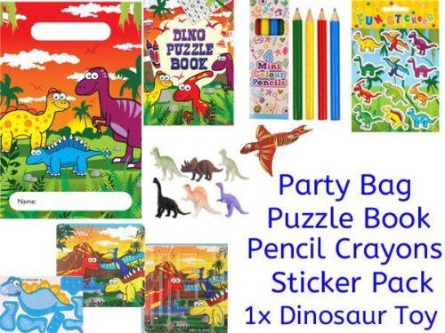 Dinosaur pre filled birthday party bag