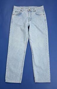Benetton-jeans-uomo-usato-gamba-dritta-straight-W38-tg-52-denim-boyfriend-T5065