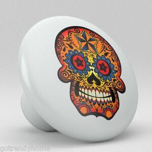 Skull Ceramic Knobs Pull Kitchen Bathroom Closet Drawer