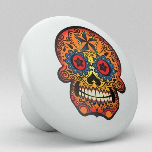 Skull Ceramic Knobs Pull Kitchen Bathroom Closet Drawer Cabinet 180 Pantry