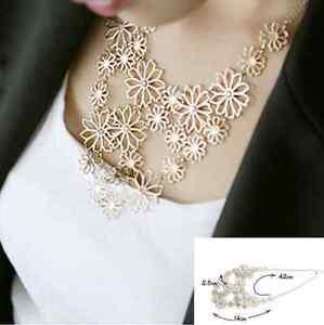 Fashion-Women-Chain-Flower-Bib-Choker-Pendant-Statement-Necklace-Charm-Jewelry