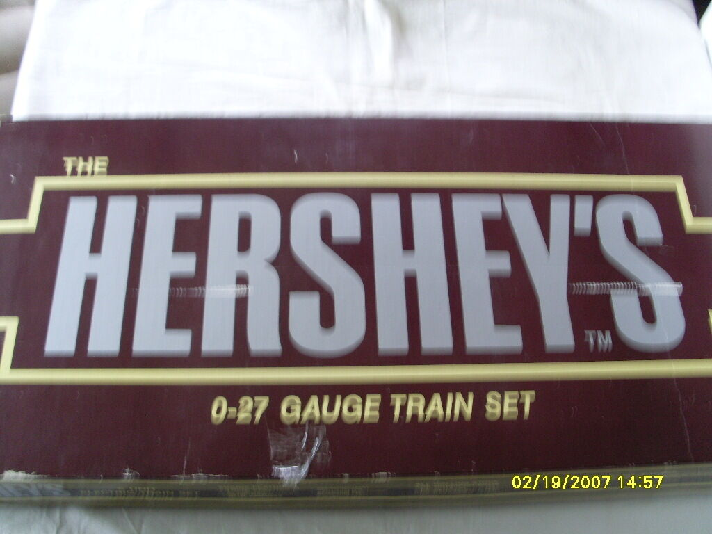 K-LINE 0-27 GAUGE  ELECTRIC TRAIN SET THE HERSEY'S 6 UNIT SET  NEVER BEEN USED