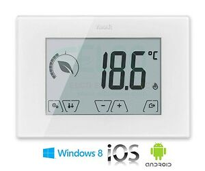 thermostat digital touch screen gsm vimar 02906 app ios