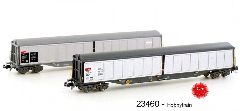 HOBBYTRAIN 23460 - Carro merci SBB habils ep.iv / V - Serie 2 Set NUOVO