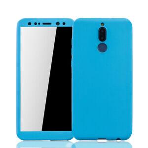 Huawei-Mate-10-Lite-Funda-Estuche-Movil-Protector-Cristal-Folio-Panzer-Azul