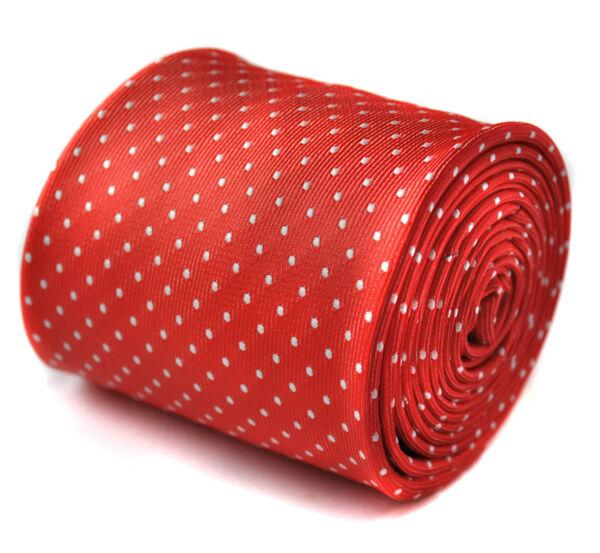 2019 Nuevo Estilo Frederick Thomas Hombre De Diseño Corbata - Rojo - Lunares Boda Hecho A Mano