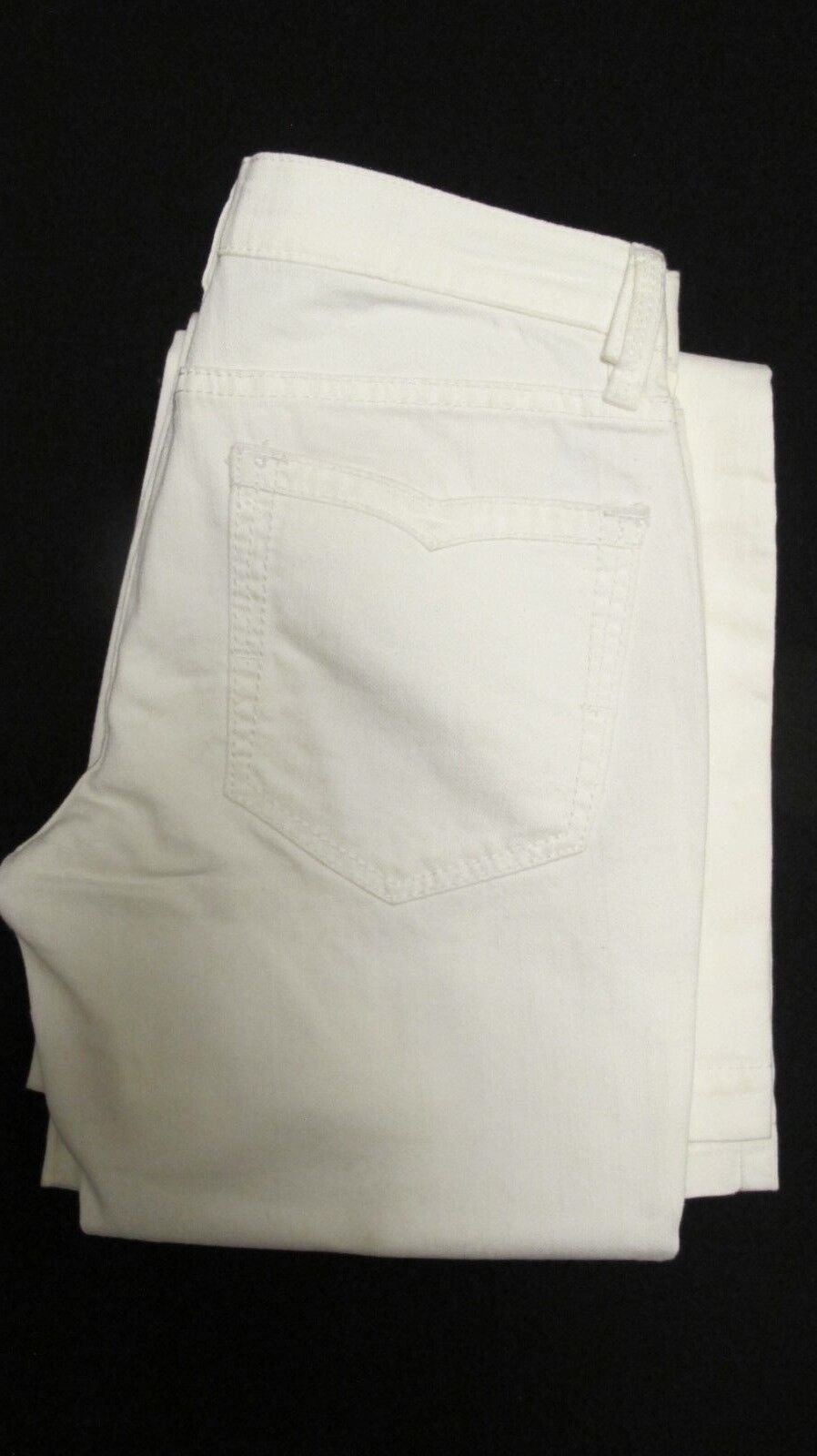 BCBG MAXAZRIA WHITE TANYA D LOW RISE FLARE JEANS SIZE 26 NWT