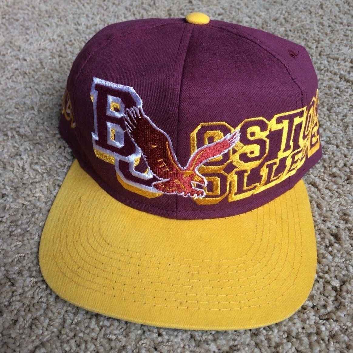 promo code b4cf2 e13ed ... top of the world maroon 4b801 fe756  low cost vtg hat boston college  eagles bc snapback hat vtg cap ncaa acc football 381b02