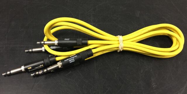 """Lot of 3 Neutrik NP3TB 40"""" Bantam Cables"""